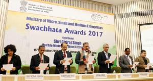 MSMEs Facilitated with Swachhata Awards by MSME Ministry