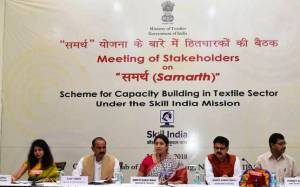 Textiles Minister, Smriti Irani Discussed Samarth Scheme for Improvising the Textile Sector