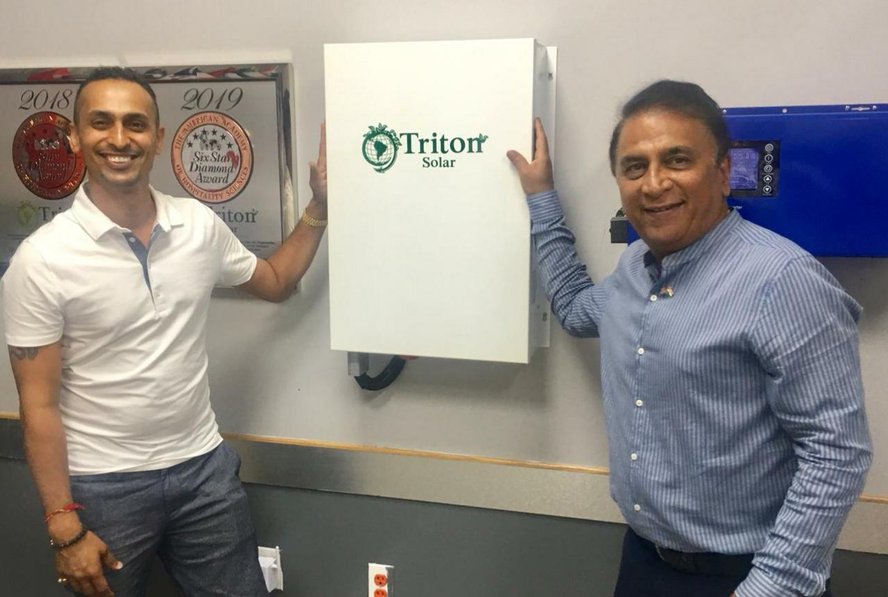 Cricket Legend Sunil Gavaskar and Bollywood Star Suniel Shetty Joined Triton Solar