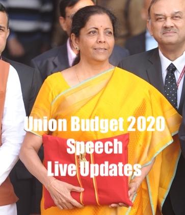 Budget With SMEStreet LIVE: Nirmala Sitharaman Presents Union Budget 2020