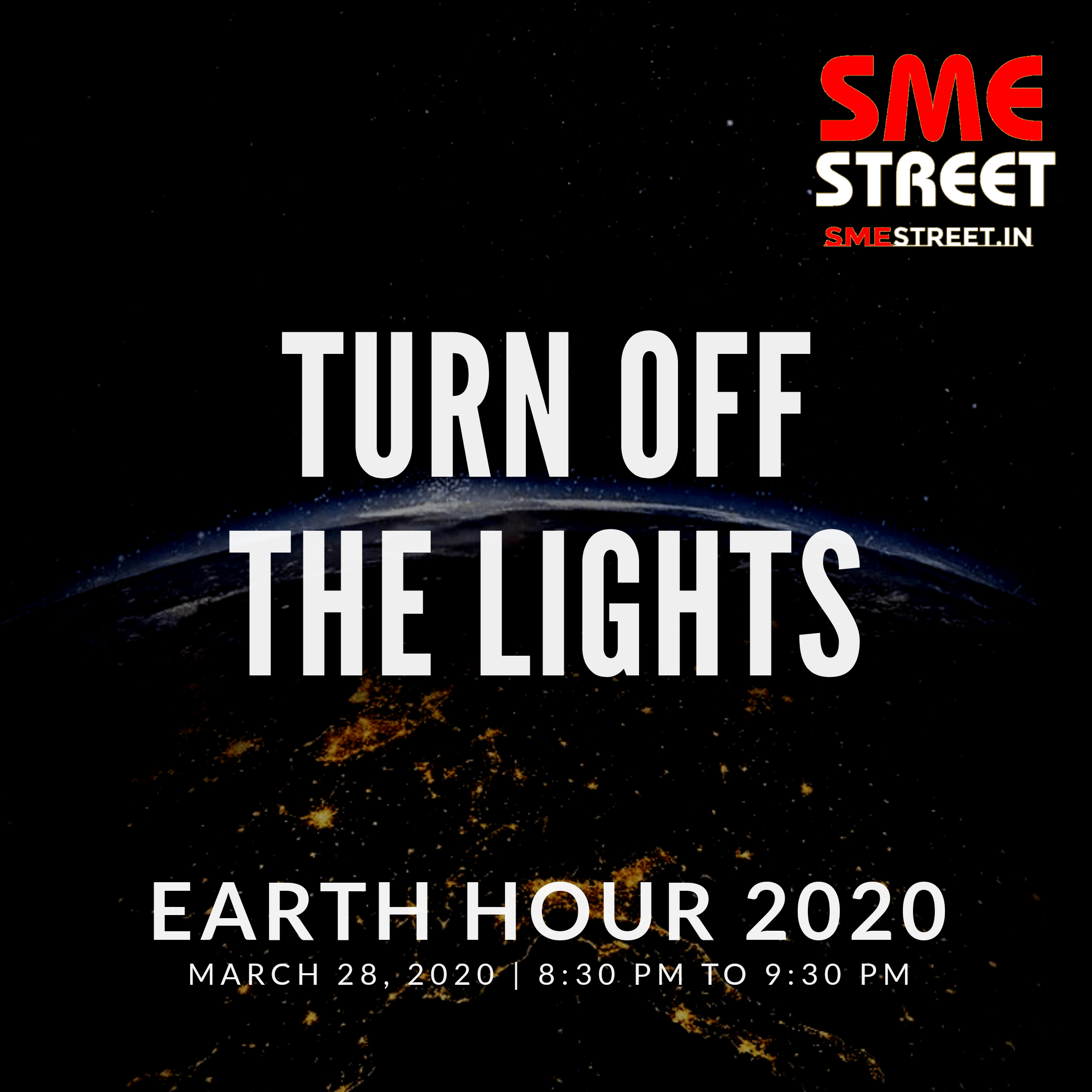 Celebrating The Earth Hour Tonight From 8:30 PM To 9:30 PM