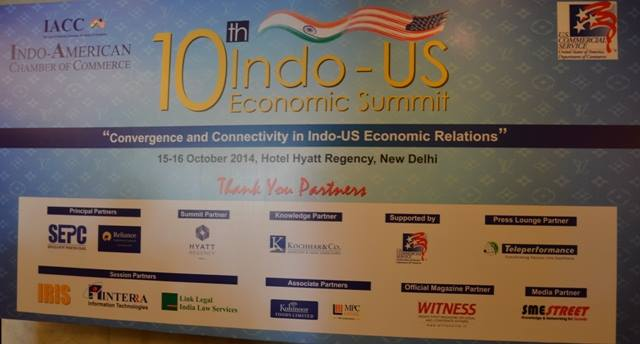 Indo-US Economic Summit, New Delhi in 2014 & 2015