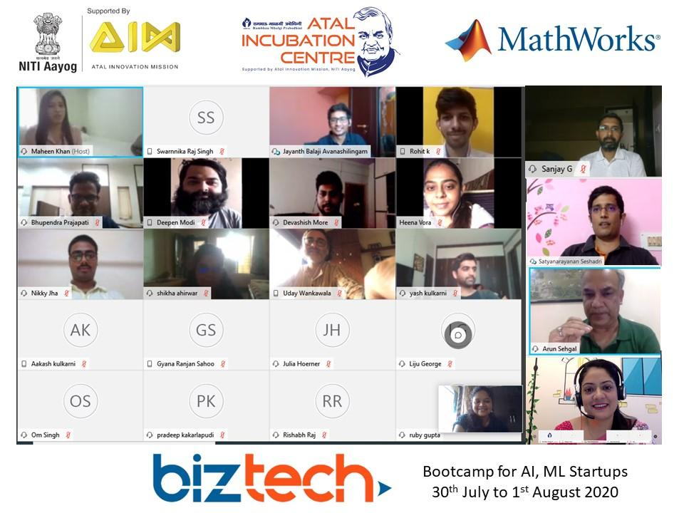 Atal Innovation Mission Supported AIC-RMP In Collaboration With MathWorks Conducts 3 Day Biz-Tech Bootcamp for AI & ML Startups
