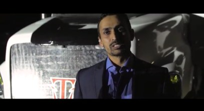 Himanshu B Patel with, Triton EV Semi Truck