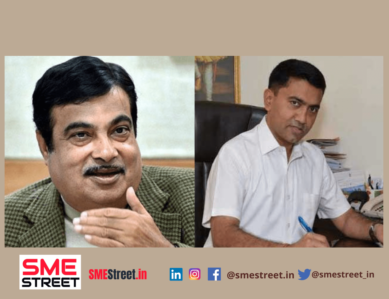 Goa CM Met Nitin Gadkari to Discuss Infra Projects