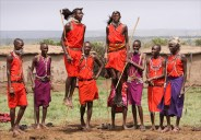Maasai Warriors Jumping