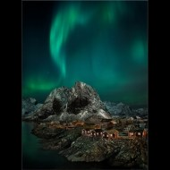 FIAP Gold medal-Aurora over Hamnoy-David Keep LRPS BPE3-LRPS BPE3- England