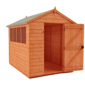 SM Garden Sheds Woodlands Low Pent Compact 7x4 Timber Bike Shed