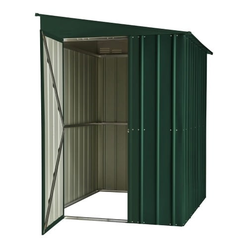 SM Garden Sheds Lotus Lean-To 5' x 8' Metal Shed Heritage Green (Solid) RESALE