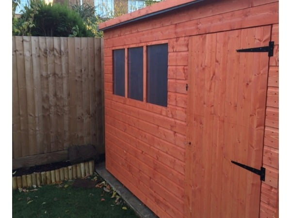 Woodlands Shiplap 10x8 Timber Pent Wooden Shed (Customisable)