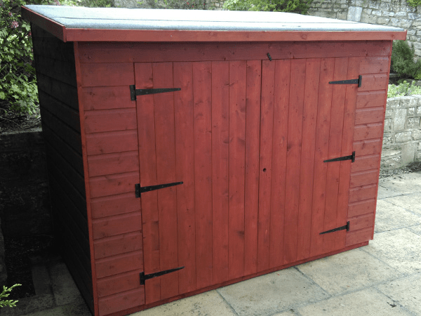 Woodlands Low Pent Compact 7x3 Timber Bike Shed