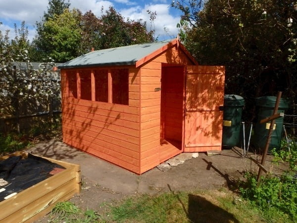 Woodlands Shiplap 8x6* Apex Timber Shed (Customisable)