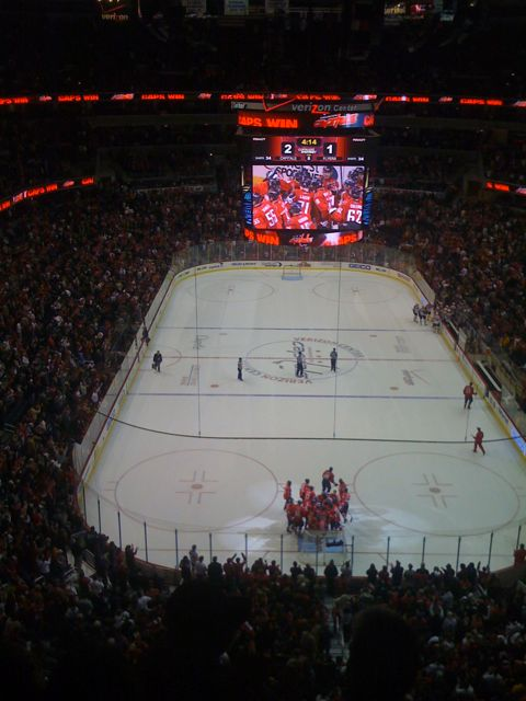 The Caps beat the Flyers!