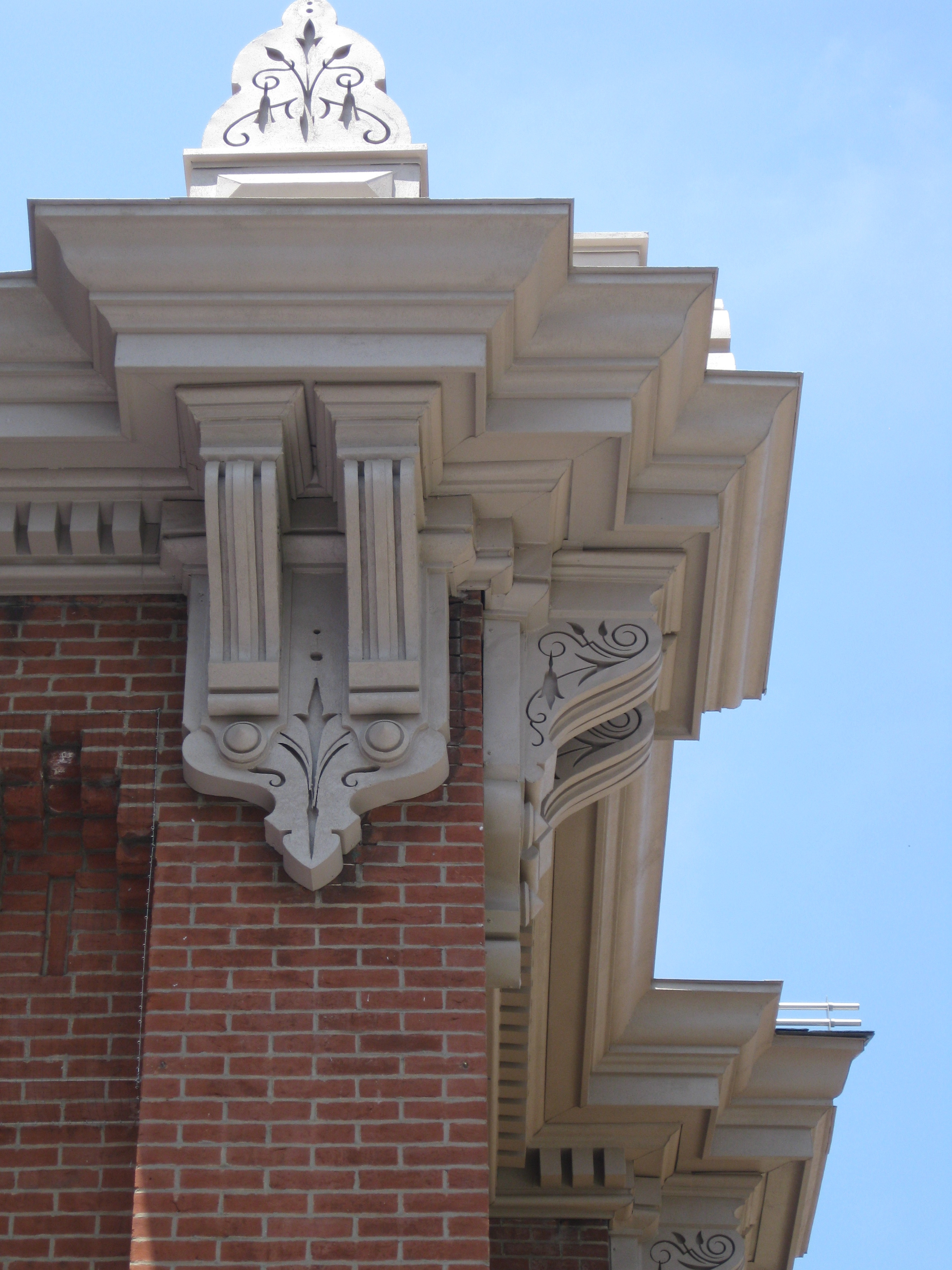 June 7: Eastern Market is re-opening in a few weeks, and I noticed today that the cornices are looking all sorts of spiffy.