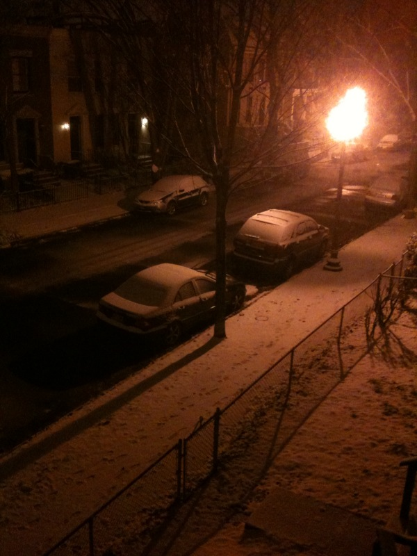 Looking out on to C Street, SE from my back porch, around 11 pm.