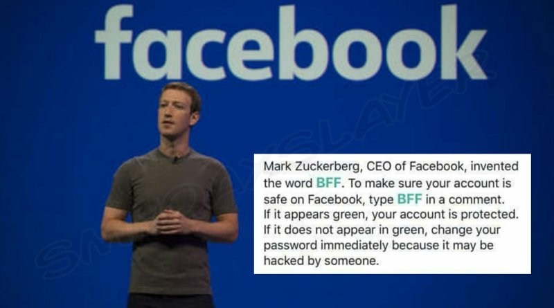 Does BFF turning green proves your Facebook account being secure ?