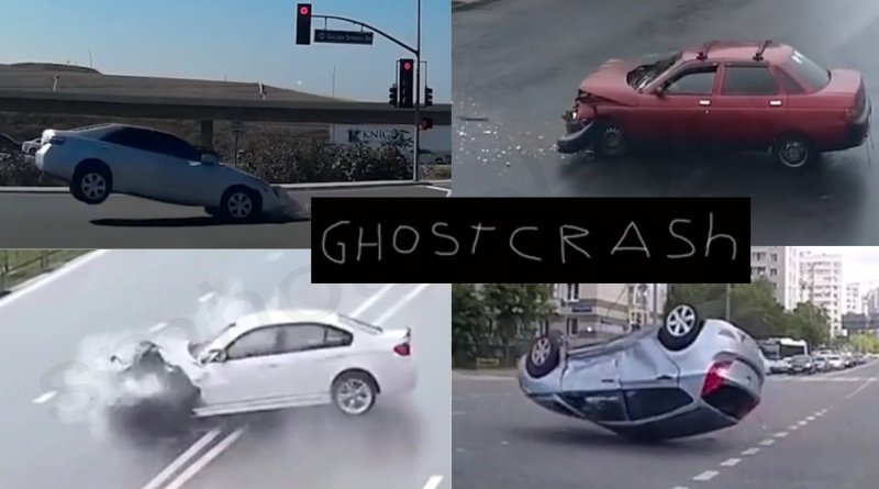 Did the cars in creepy video crash into ghosts ?? Check out the details.