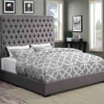 Camille Upholstered Bed Grey By Coaster Furniture Furniturepick