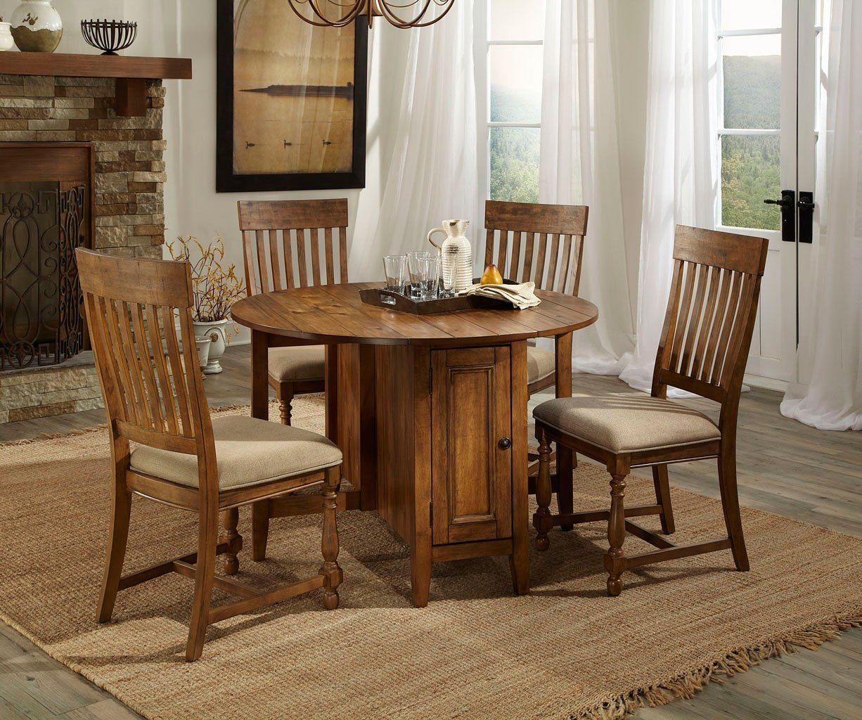 Rhone Round Kitchen Table Set By Intercon Furniture Furniturepick