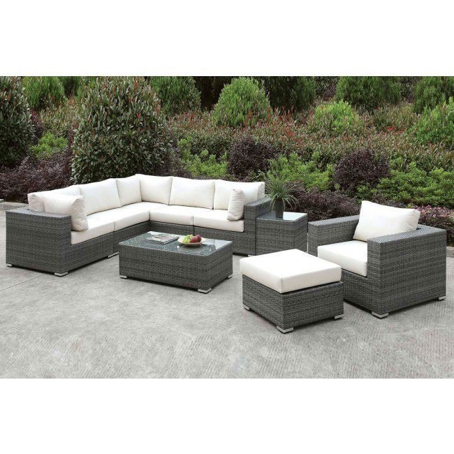 somani outdoor l shaped sectional set configuration 8