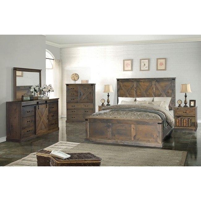 farmhouse panel bedroom set barnwood