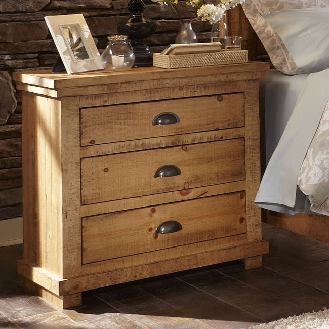 willow nightstand distressed pine
