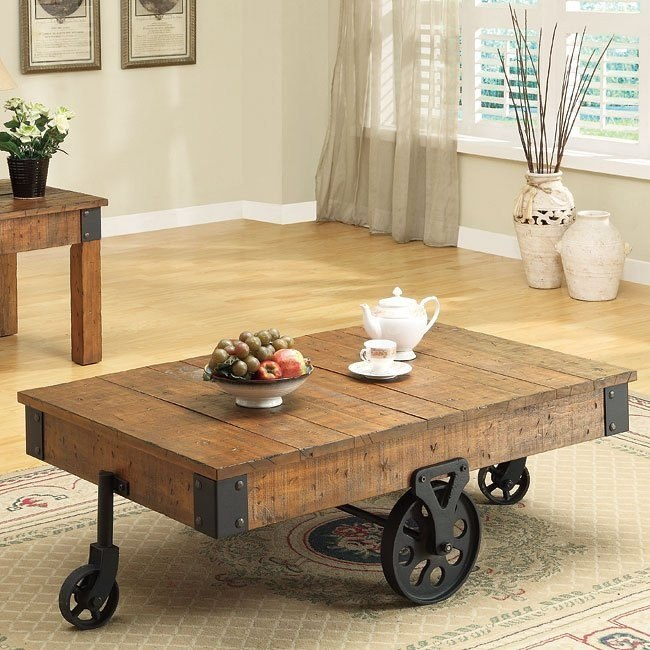 distressed country coffee table