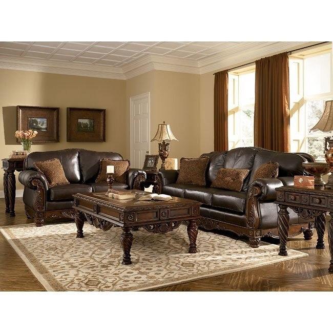 North Shore Dark Brown Living Room Set Millennium Furniturepick
