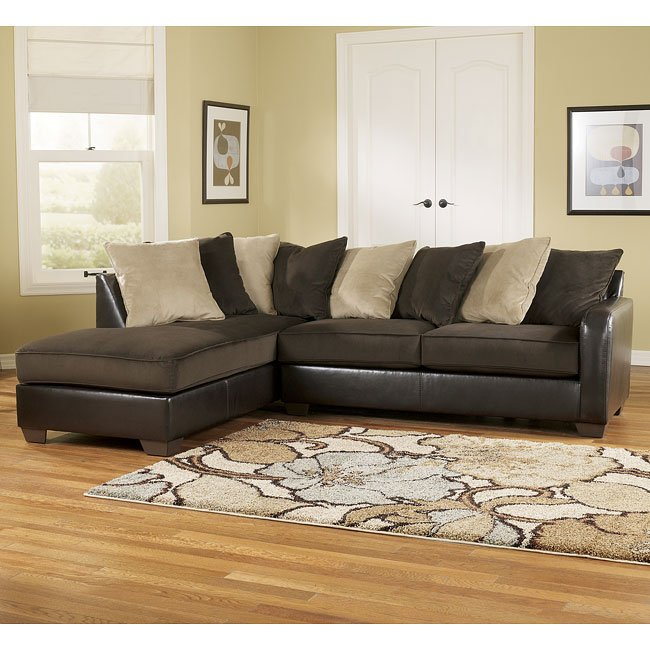 gemini chocolate left corner chaise sectional