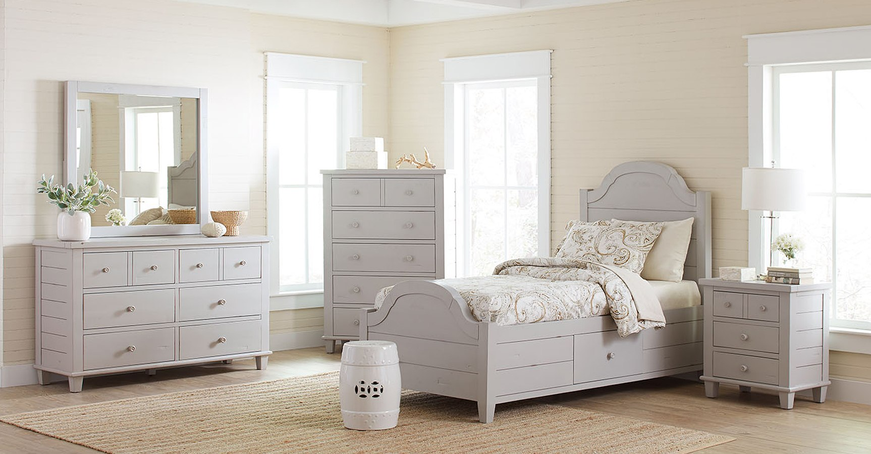 Chesapeake Youth Storage Bedroom Set Dove Grey By Jofran