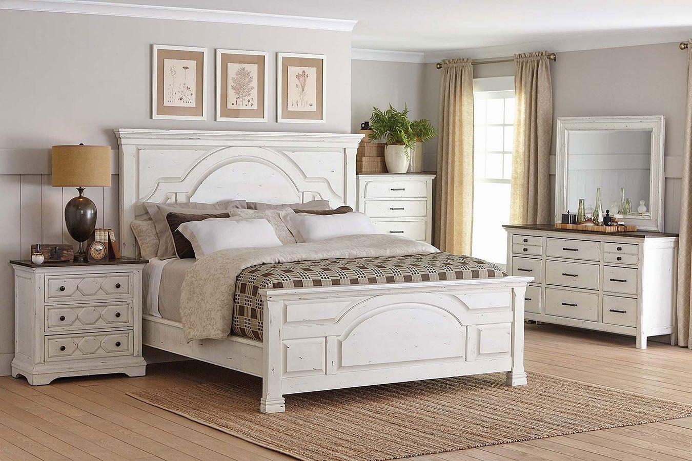 Celeste Panel Bedroom Set (Vintage White) By Coaster