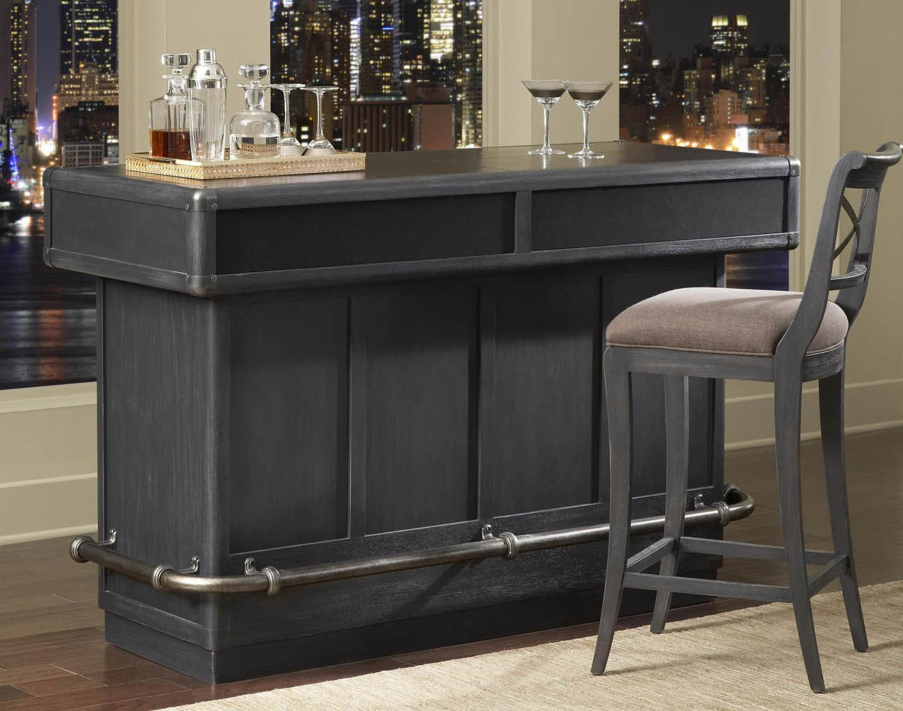 Vintage Tempo Home Bar Set Pulaski Furniture FurniturePick