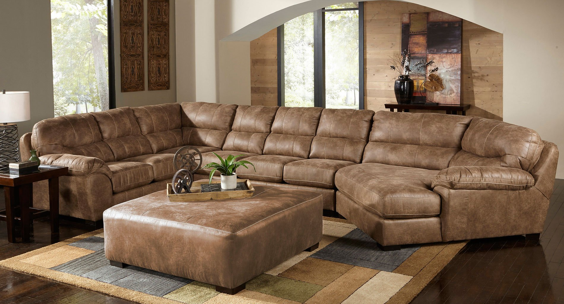Grant Modular Sectional W Piano Wedge Silt Sectionals