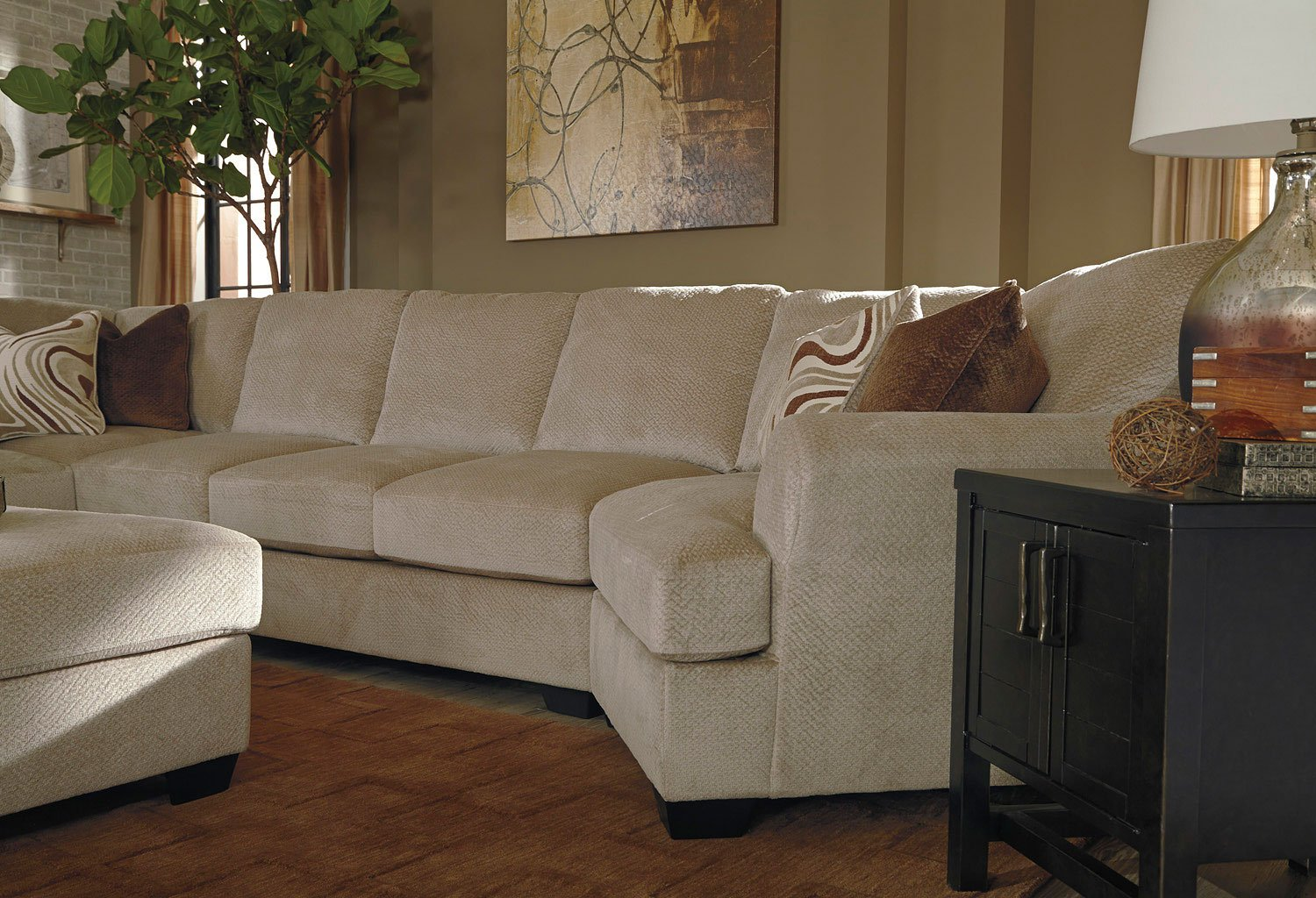 Hazes Fleece Modular Sectional W Cuddler Sectionals