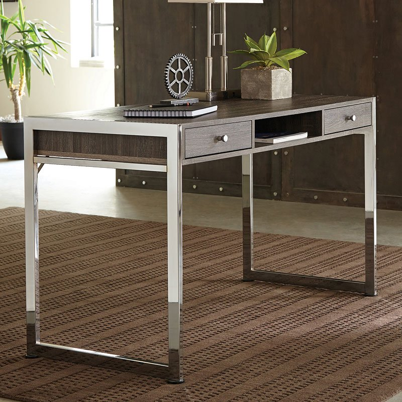 Weathered Grey And Chrome Desk Home Office Desks Home