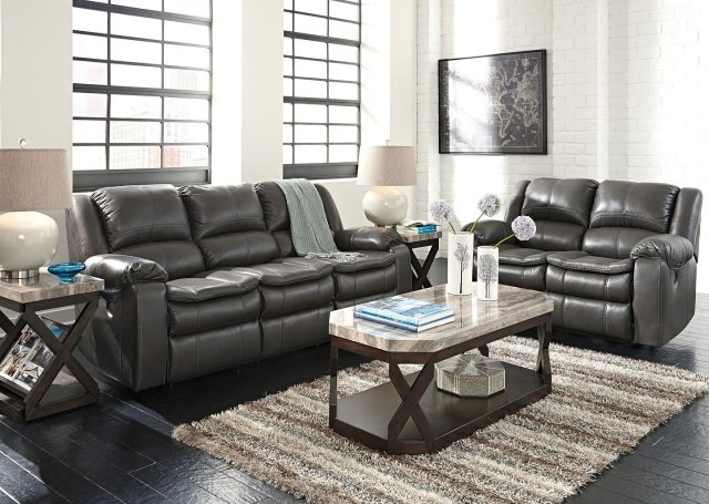 Long Knight Gray Reclining Living Room Set by Signature ...