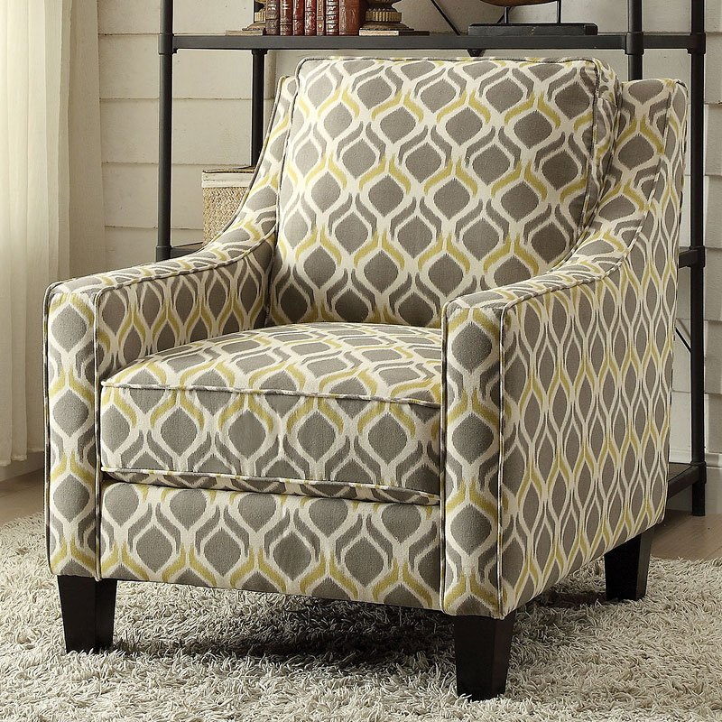 Grey And Gold Accent Chair By Coaster Furniture