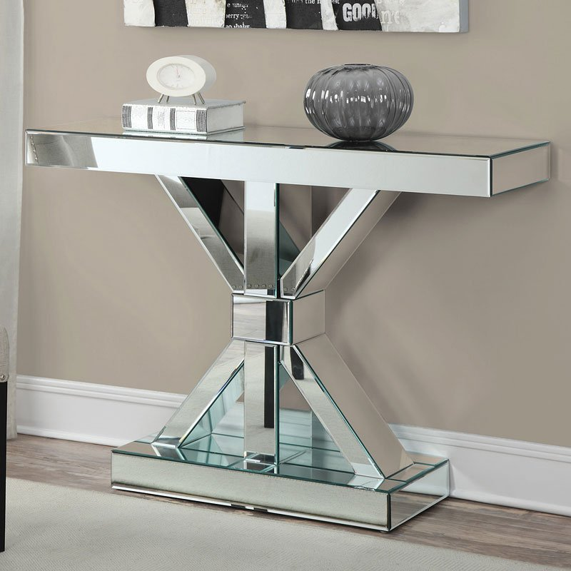 Mirrored Console Table W X Base Sofa Tables