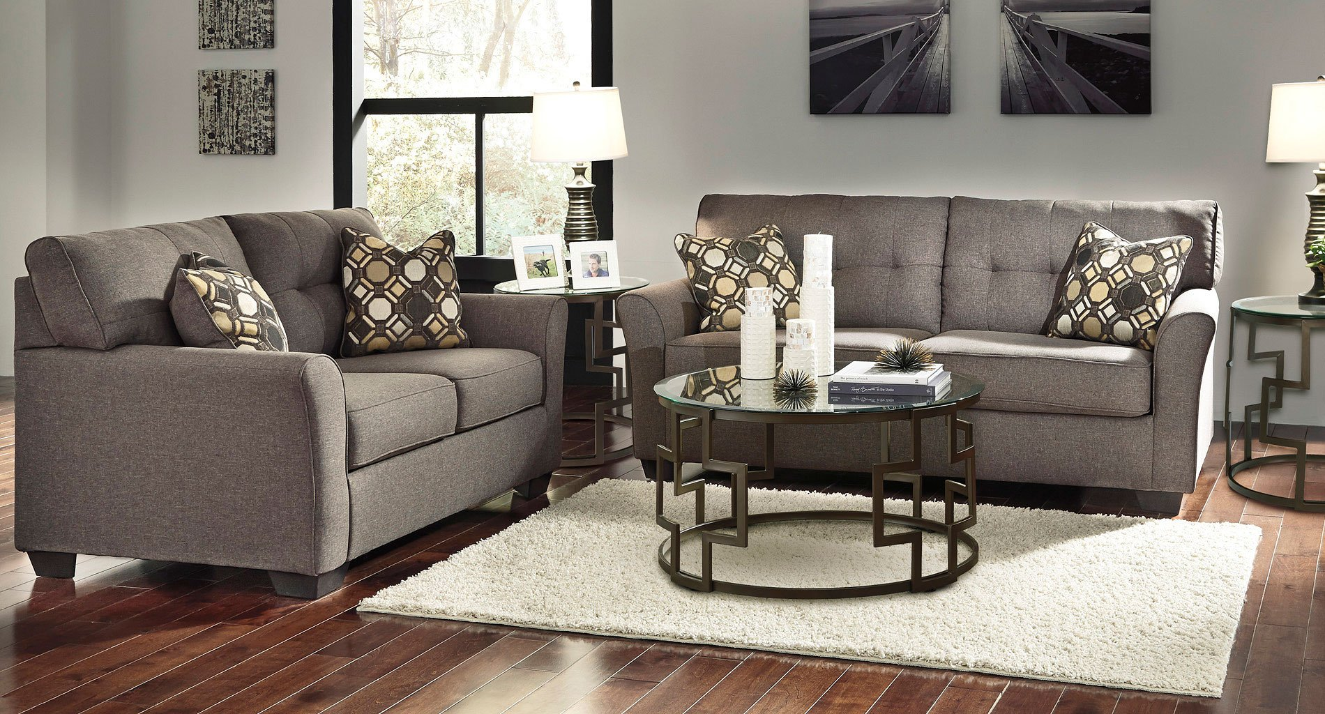 Tibbee Slate Living Room Set Living Room Sets Living