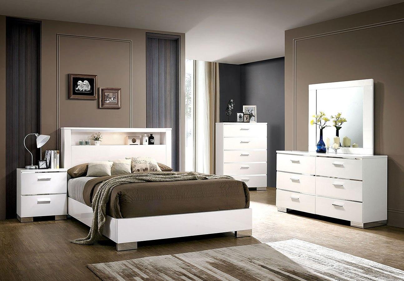Malte Bookcase Bedroom Set White