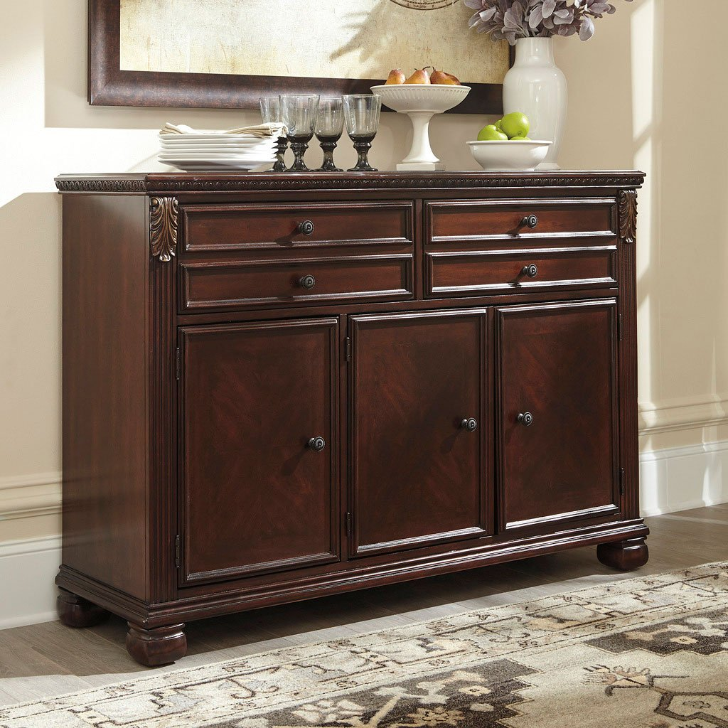 Leahlyn Reddish Brown Buffet Buffets Sideboards And