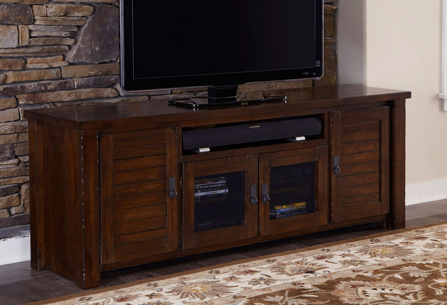 Trestlewood 74 Inch TV Console TV Stands And TV Consoles