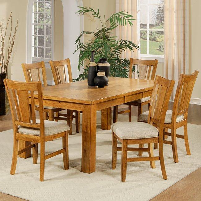 Fusion Dining Room Set Light Oak By Homelegance