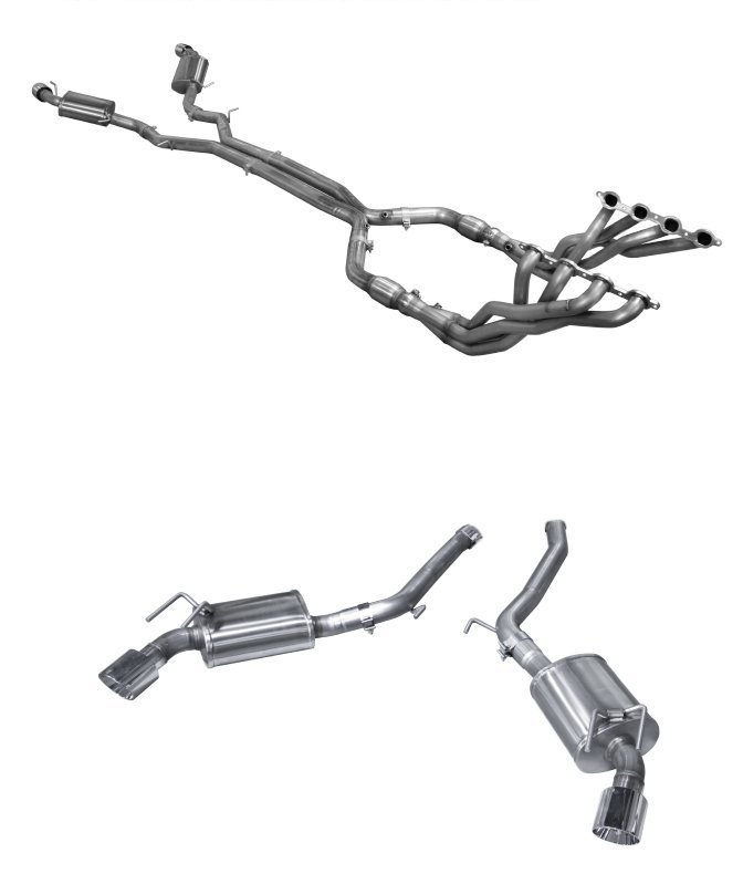 2016 2019 camaro ss american racing headers full system with dual tips