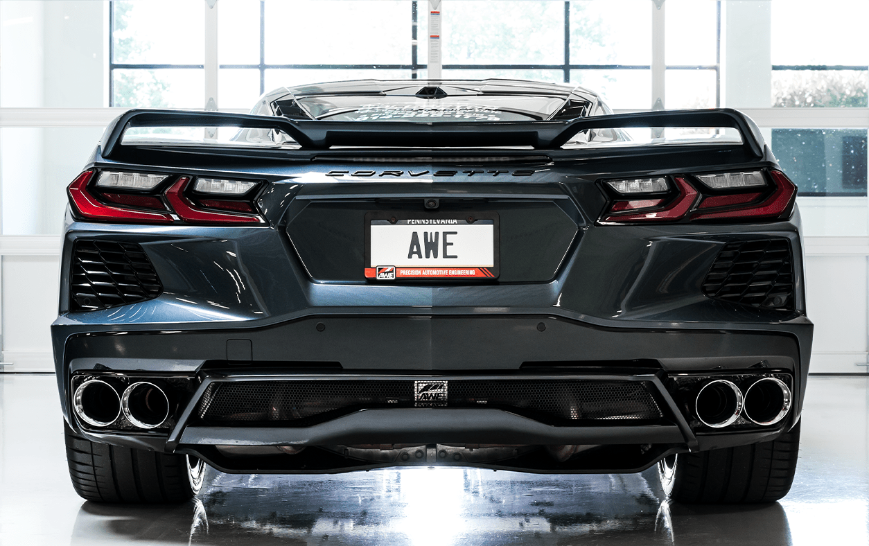 2020 2021 c8 corvette awe touring edition exhaust with chrome silver tips