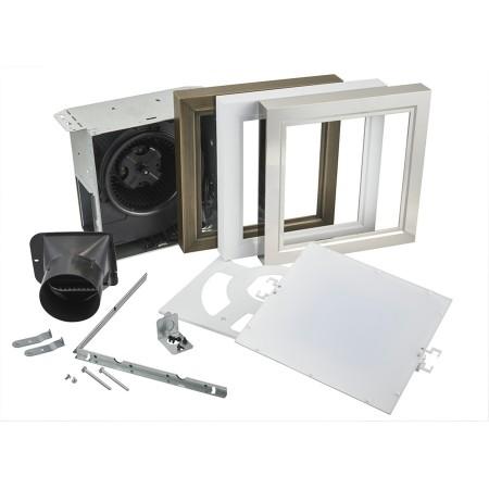 broan nutone 110 cfm decorative bathroom exhaust fan with led light and easy change trim kit energy star aer110ltk