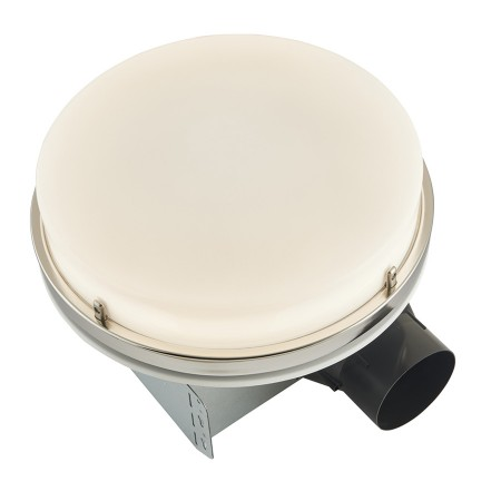 broan nutone 110 cfm decorative bathroom exhaust fan with led light in brushed nickel energy star aer110lbn