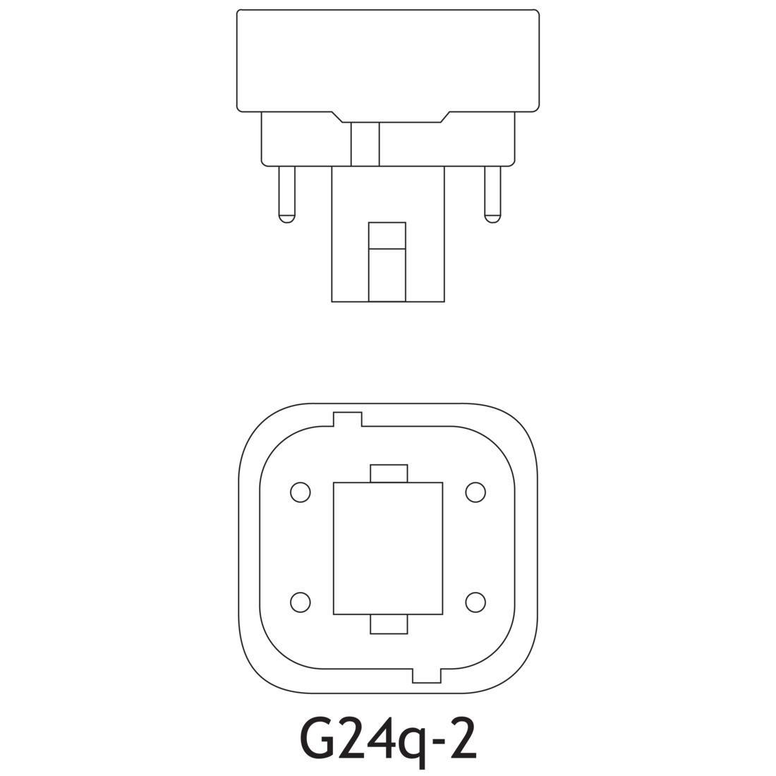 Ge F18dbx 841 Eco4p 18 Watt T4 Quad Tube Cfl K 82 Cri 4
