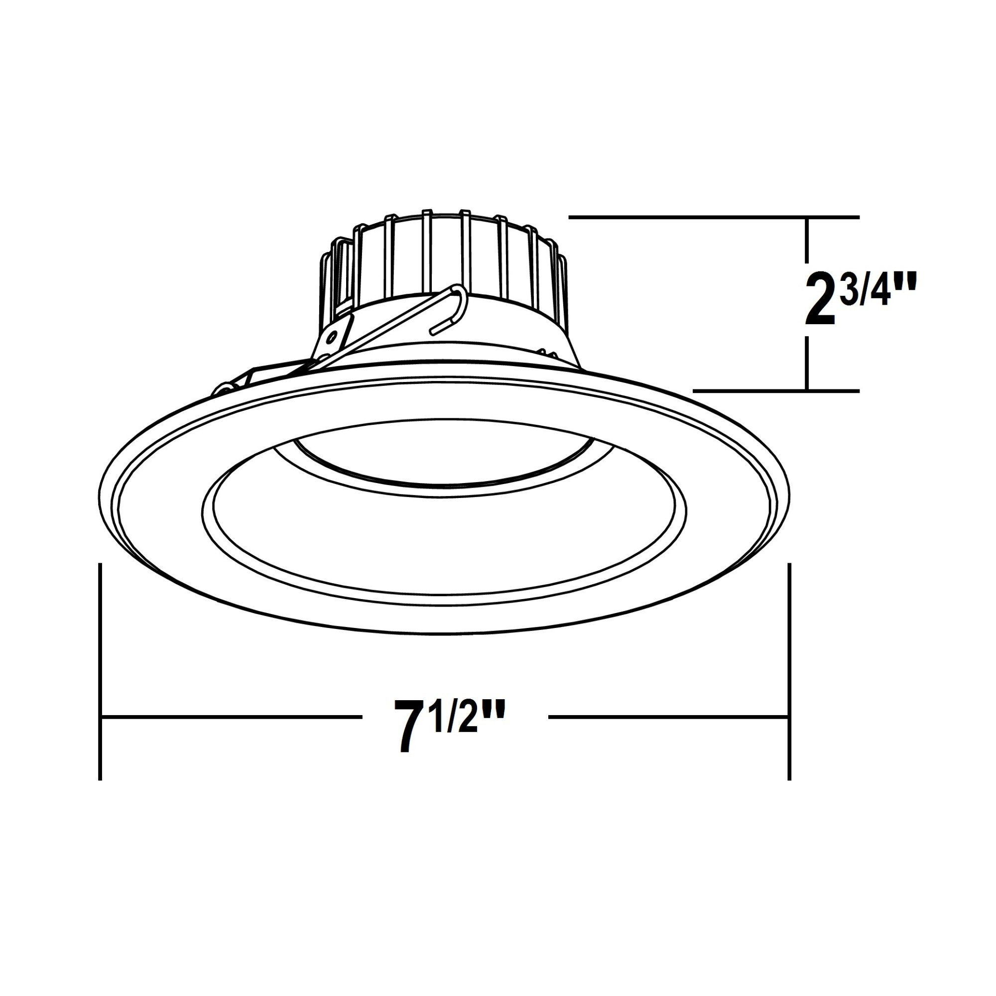 Nicor Dlr56 120 2k Bk K 5 6 Inch Led Downlight Retr