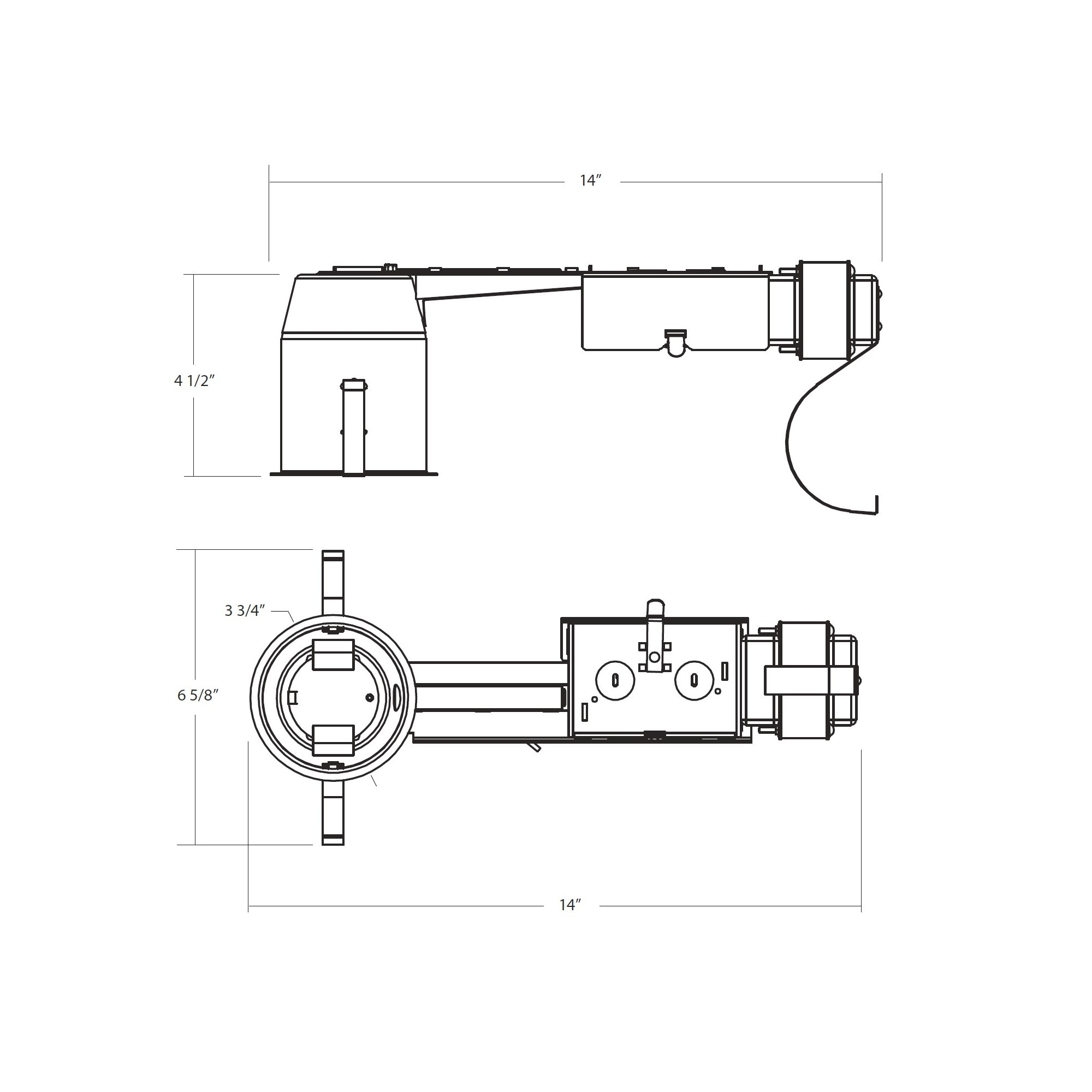 Nicor R 3 Inch Remodel Housing Low Voltage Non Ic